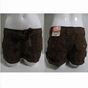 OP shorts 11 Convertible Roll-Cuff Shorts brown